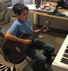 Isaiah Practice guitar