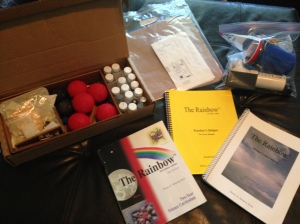 $50 The Rainbow First Edition Two Year Science Curriculum. Supplies are used but usable.