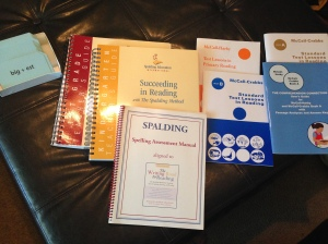$50 Spalding Kindergarten and 1st Grade Teacher's Guides with Spelling Assessment Manual, and Standard Test Lessons: Primary, Book A and Book B