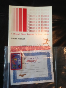 $5 Fitness at Home by David R Kidd Parent Manual, Fitness Award and Badge