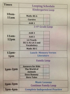original schedule 2014